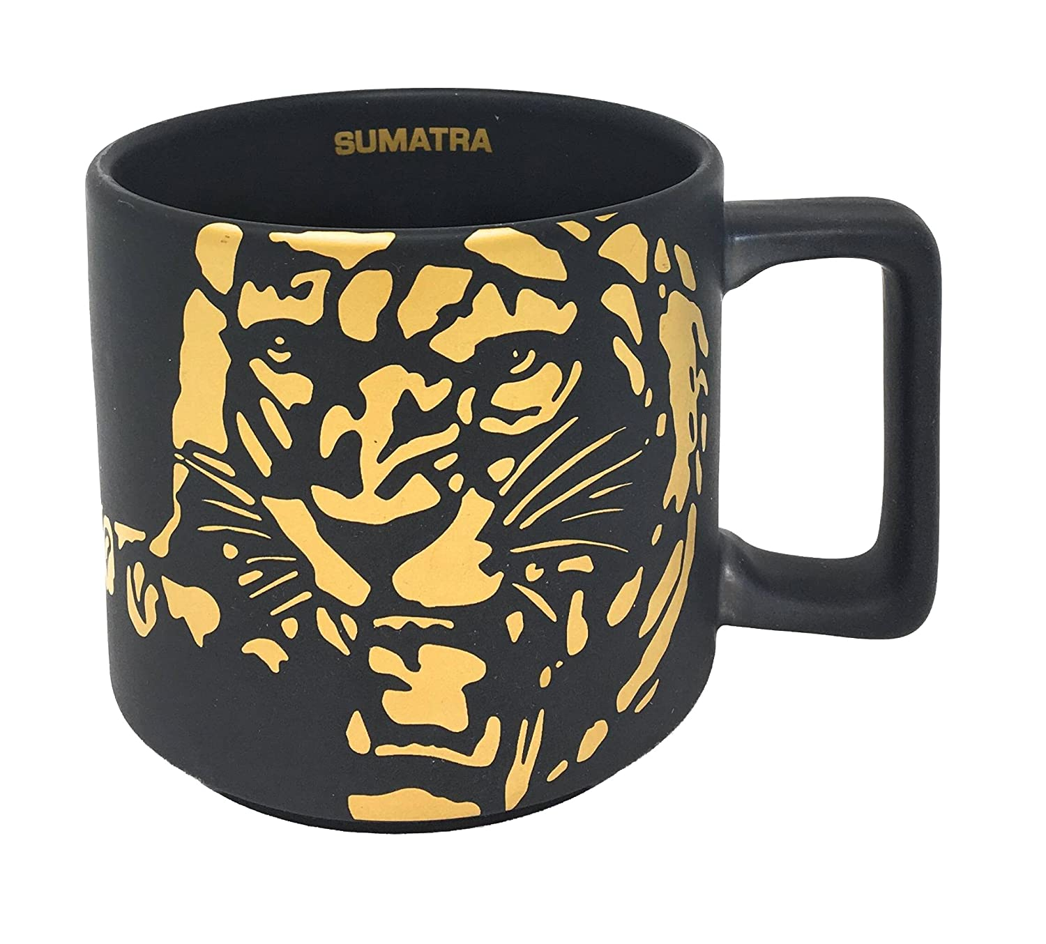 Starbucks SUMATRA Tiger Mug Black 2016 14Oz