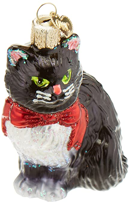 Old World Christmas Ornaments: Tuxedo Kitty Glass Blown Ornaments for Christmas  Tree - Amazon.com: Old World Christmas Ornaments: Tuxedo Kitty Glass Blown