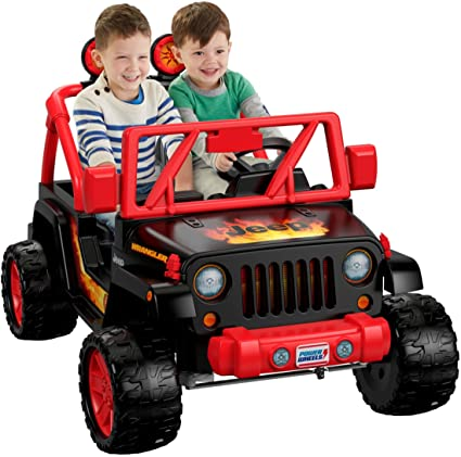 amazon com power wheels tough talking jeep wrangler toys \u0026 games