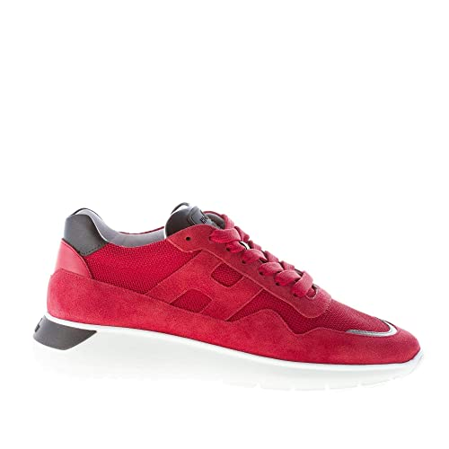 hogan interactive cube sneakers bianco, rosso