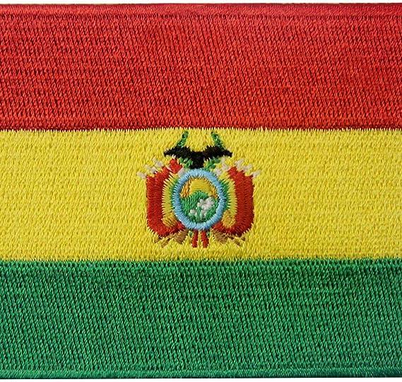 Bandera de Bolivia Boliviano Parche Bordado de Aplicación con Plancha: Amazon.es: Hogar