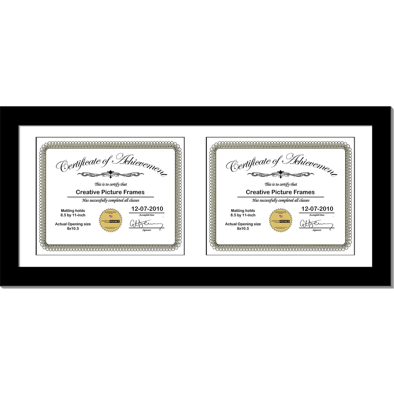 Amazoncom Creativepf 10x24bk W Black Horizontal Double Diploma