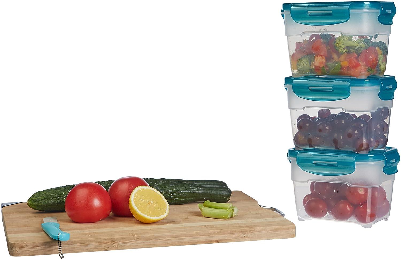 3 pezzi da 1,2 L Basics Set di contenitori a chiusura ermetica per alimenti