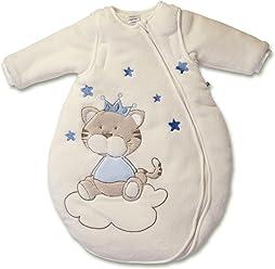 Jacky Jungen Winter Schlafsack mit abnehmbaren Armen, Katze, Blau, 62/68, 350006