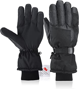 Fazitrip Unisex Ski Gloves with Touchscreen Function and Pocket