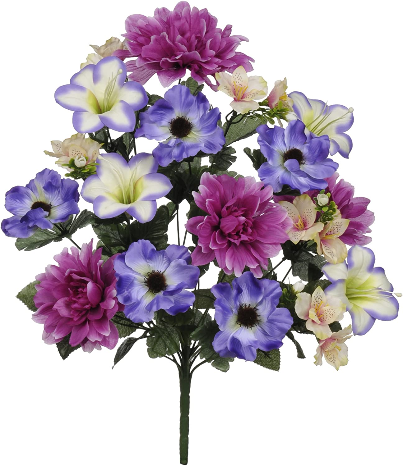 2 HEADS ARTIFICIAL SILK FLOWERS......TALL 84cm LISIANTHUS SPRAY IN PURPLE ...