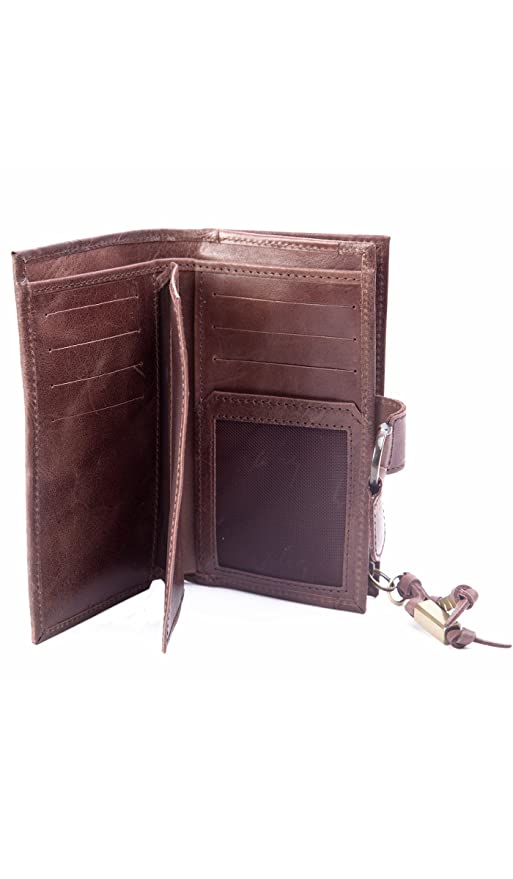Velez Genuine Full Grain Leather Trifold Wallet for Women Billetera Cuero Mujer