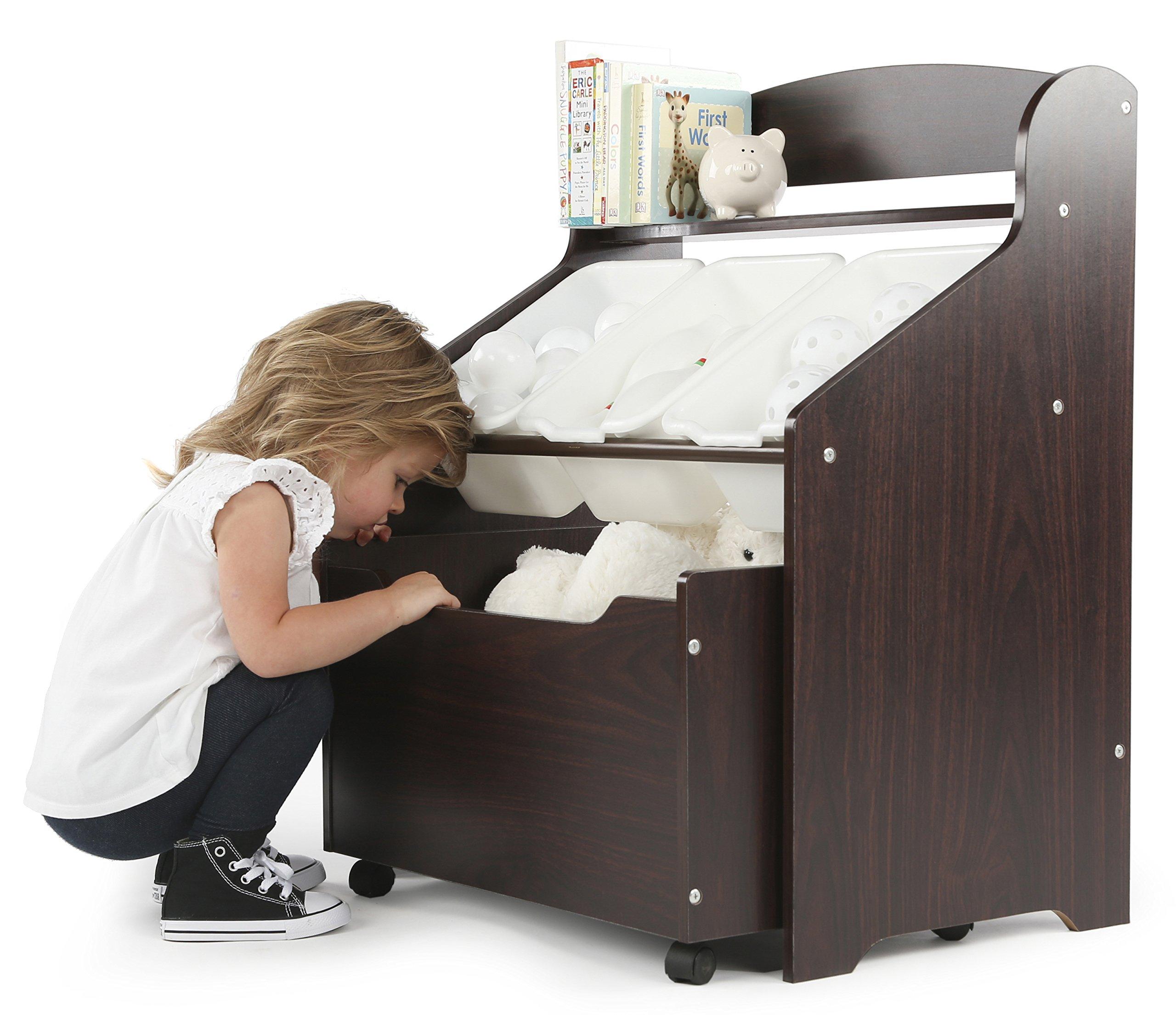 Tot Tutors Kids Store All Unit Espresso Finish Tb818 Storage