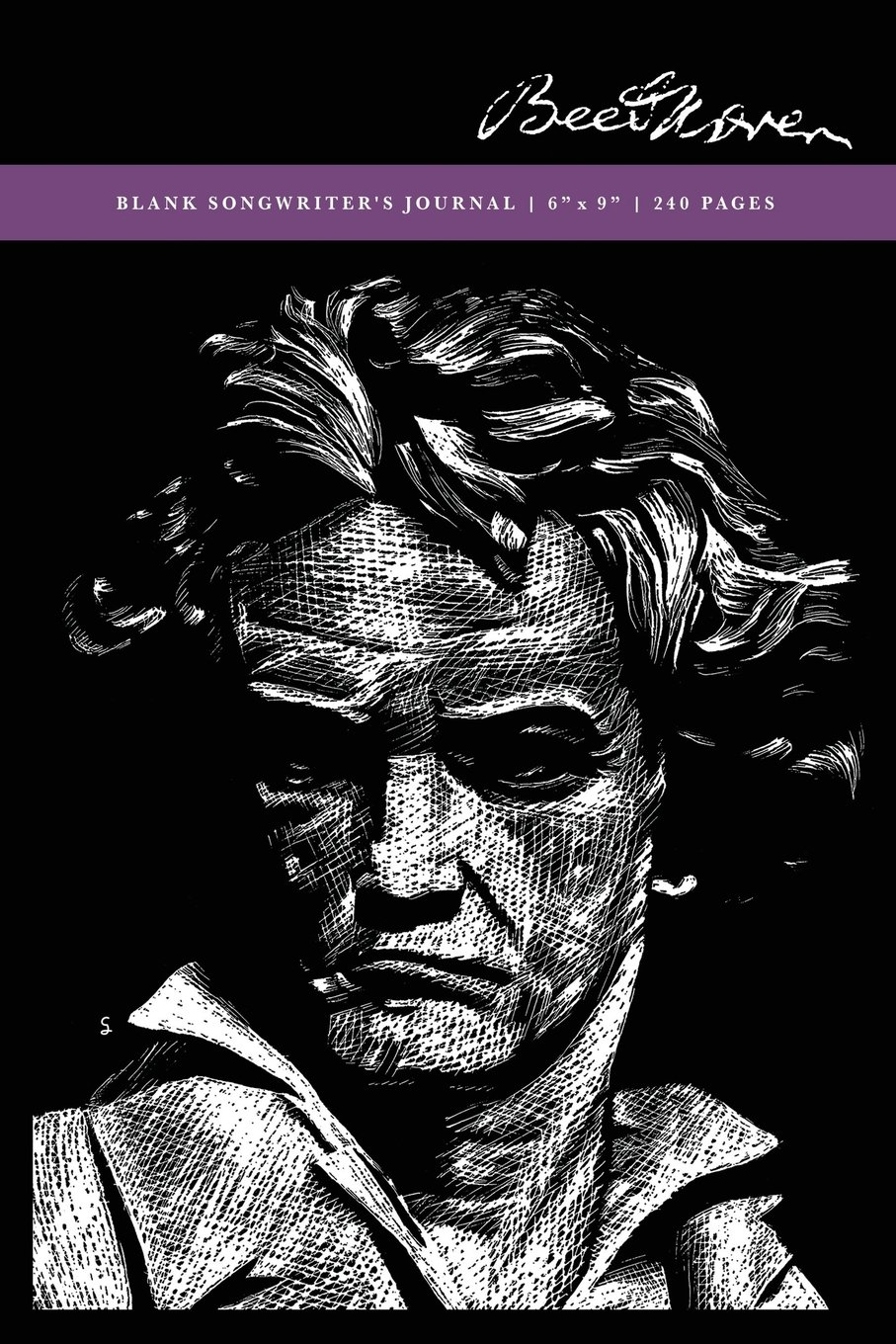 Beethoven: Blank Songwriter's Journal 6x9: 240 Creme Pages (120 spreads) college ruled + music staff paper / Notebook for Artists, Writers + Musicians pdf epub