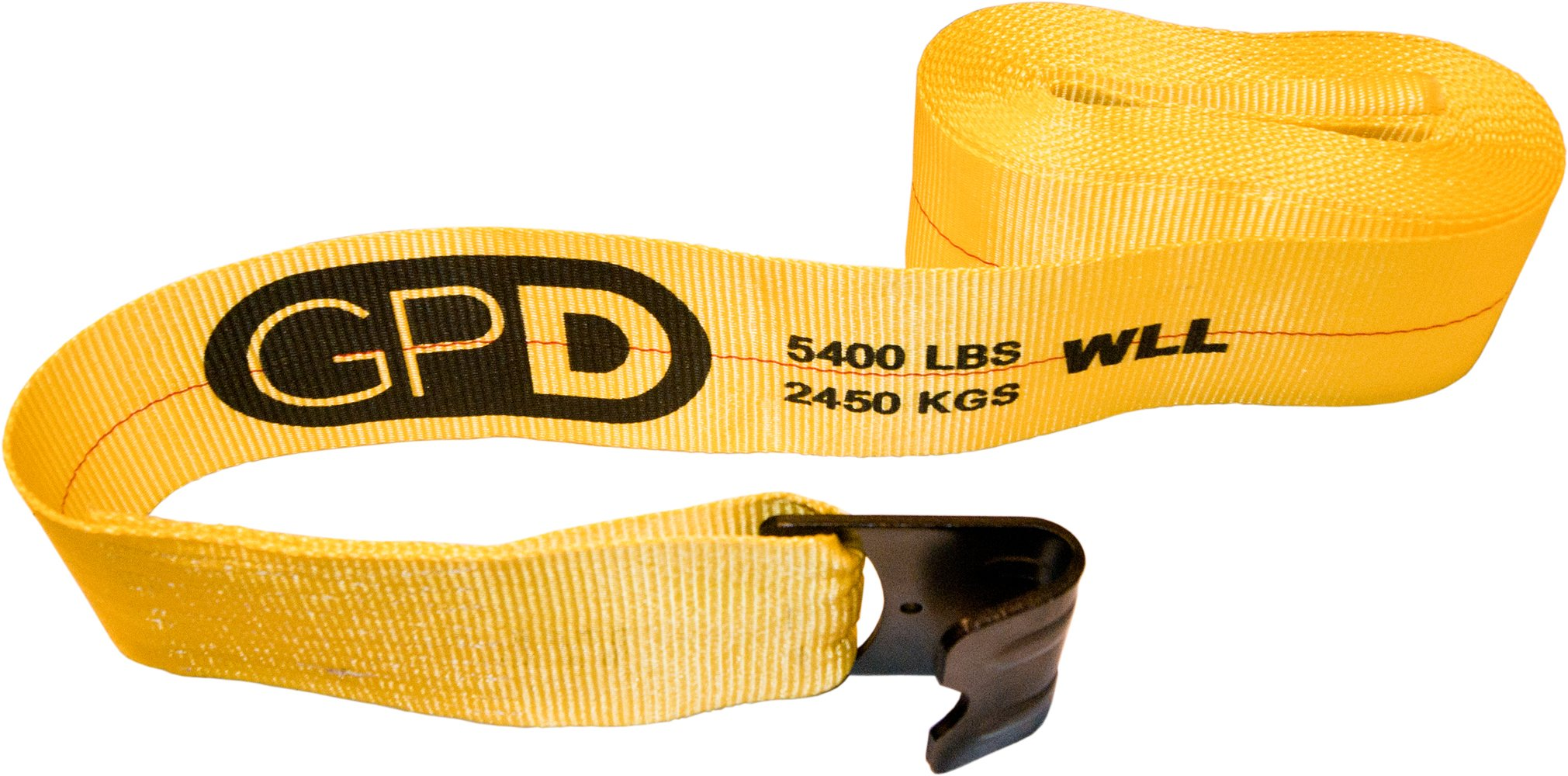 Ten 4'' x 30' Winch Straps with Flat Hooks for Flatbed Trailers Trucks by GPD