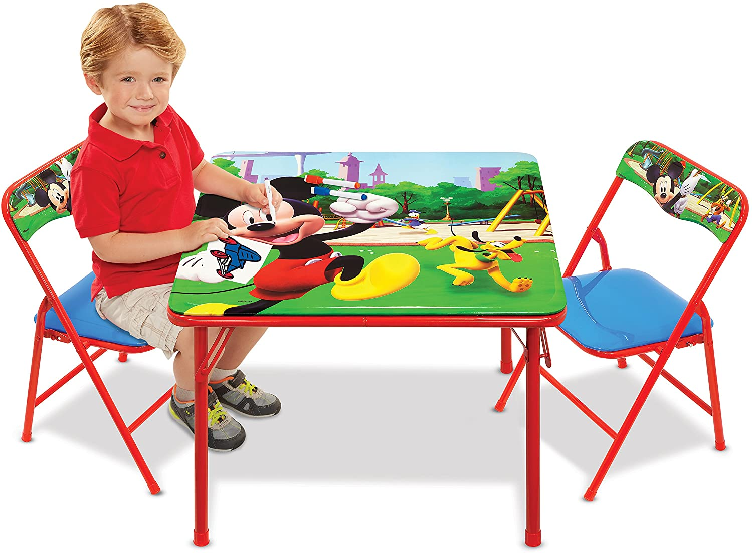 Mickey Mouse Table Chairs Set For Kids – Furniture