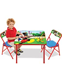 Mickey Mouse Table & Chairs Set For Kids - Furniture