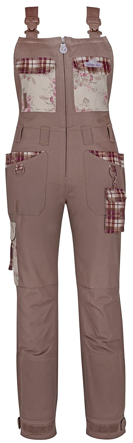 Garden Girl USA Full Dungaree/Bibpants, 10-Inch, Classic Brown