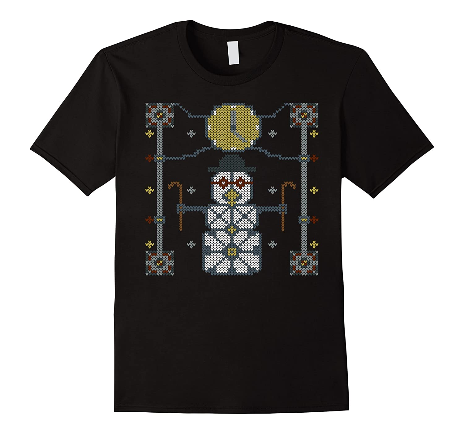 Steampunk Time-Traveling Snowman Ugly Christmas Sweater Tee