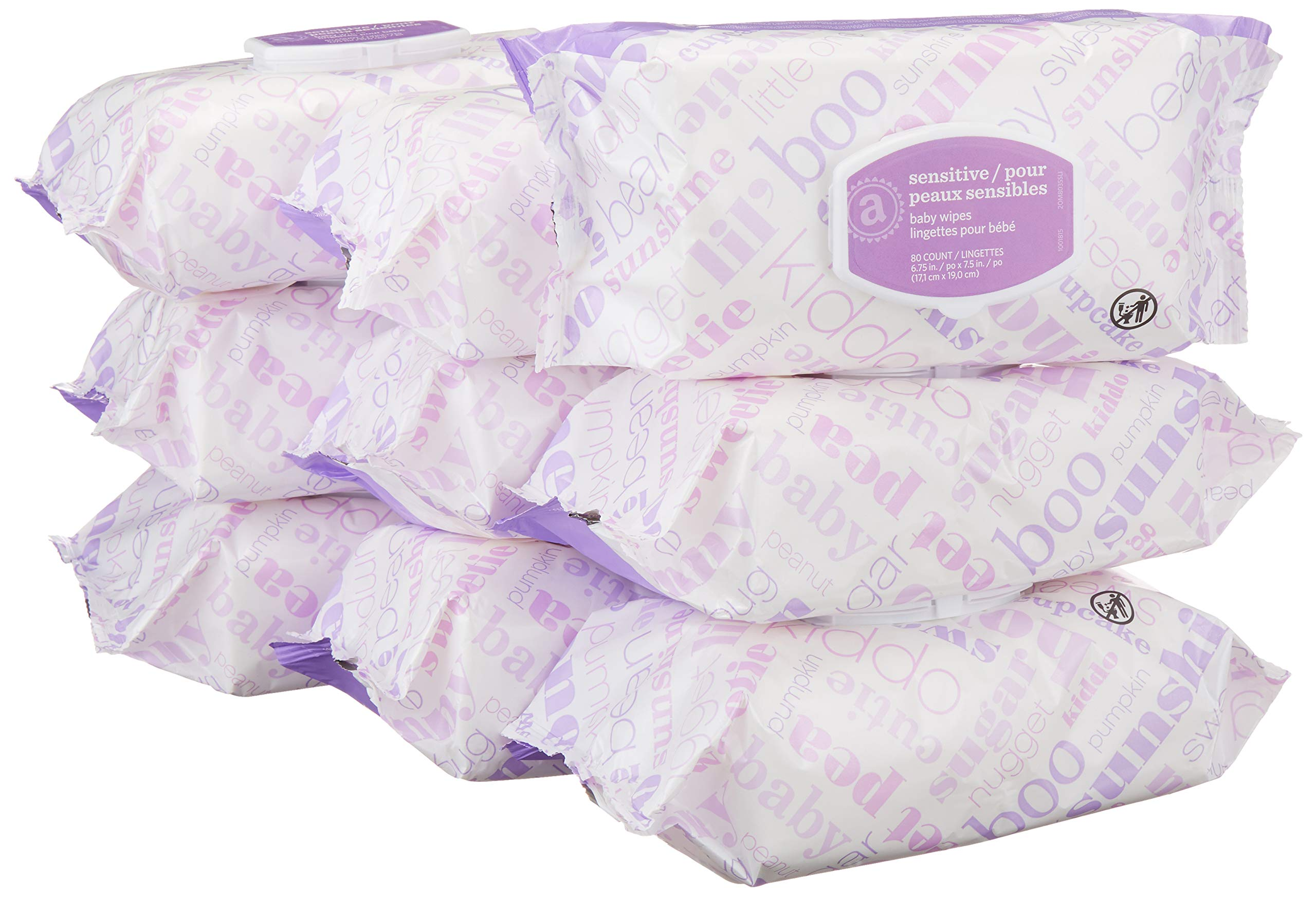 Amazon Elements Baby Wipes, Sensitive, 720 Count, Flip-Top Packs product image