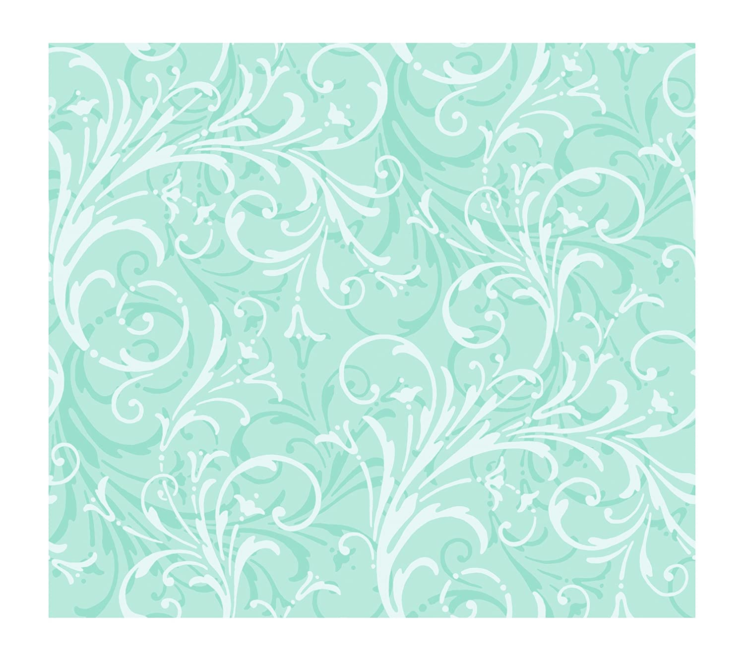 York Wallcoverings Just Kids KD1723 Layered Scroll Wallpaper Mint Green Amazoncouk DIY Tools