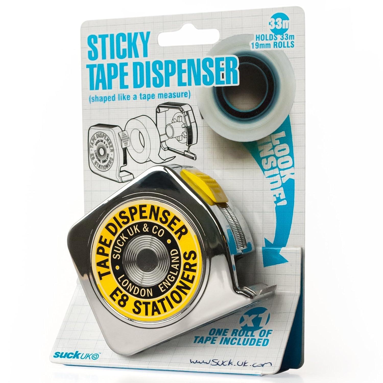 Dispenser per nastro adesivo a forma di metro metallico Pusher SK TAPEDISP1 SK108