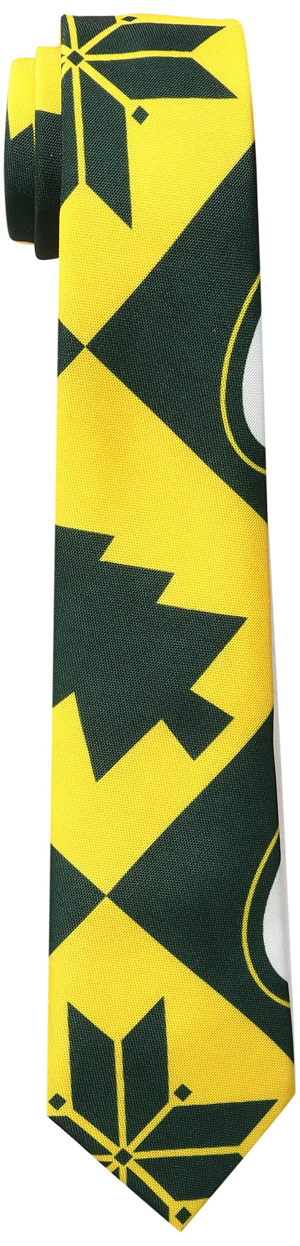FOCO Green Bay Packers Patches Ugly Printed Tie - Mens