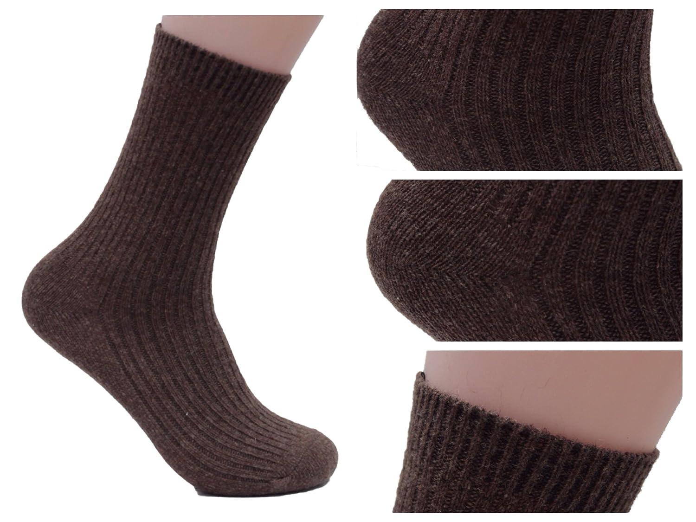 AATMart Big Girls 4 Pairs Knitted Wool Crew Socks FS03 Size XL 7 Colors
