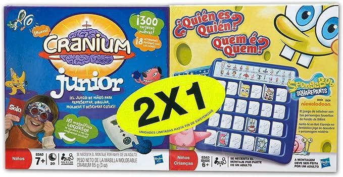 Hasbro Juegos Infantiles Cranium Jr + Quién Es Quién Bob A1676500: Amazon.es: Juguetes y juegos