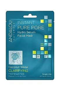 Andalou Naturals Instant Pure Pore Hydro Serum Facial Mask, 0.6 Fluid Ounce