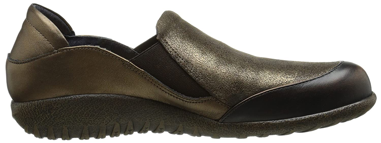 NAOT Women's Moana Flat B00TQ6SO6Q 38 EU/6.5-7 M US|Volcanic Brown Leather/Bronze Shimmer Suede/Grecian Gold Leather