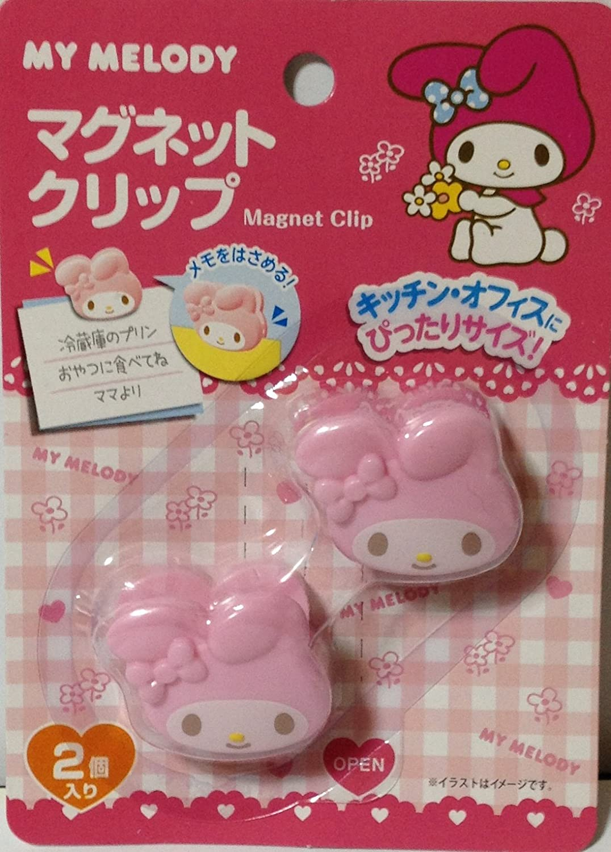 Sanrio My Melody Die-cut Magnet Clip 3.4×3.2 cm 2 Pcs Set Kitchen Office