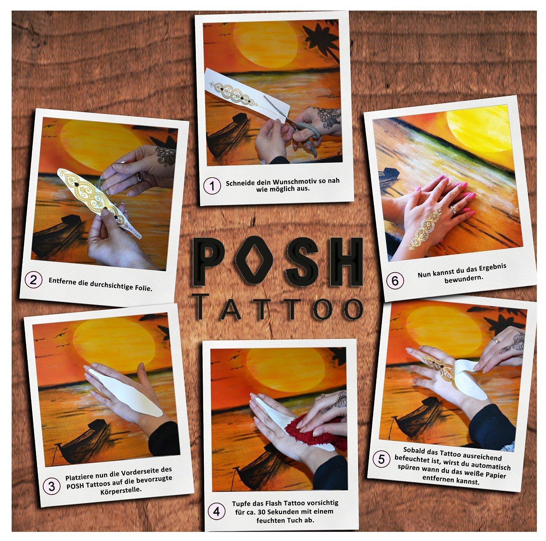 Elegant Tattoo Folie Entfernen Ideen Von 2 By Posh Tattoo® ||| Metallic |