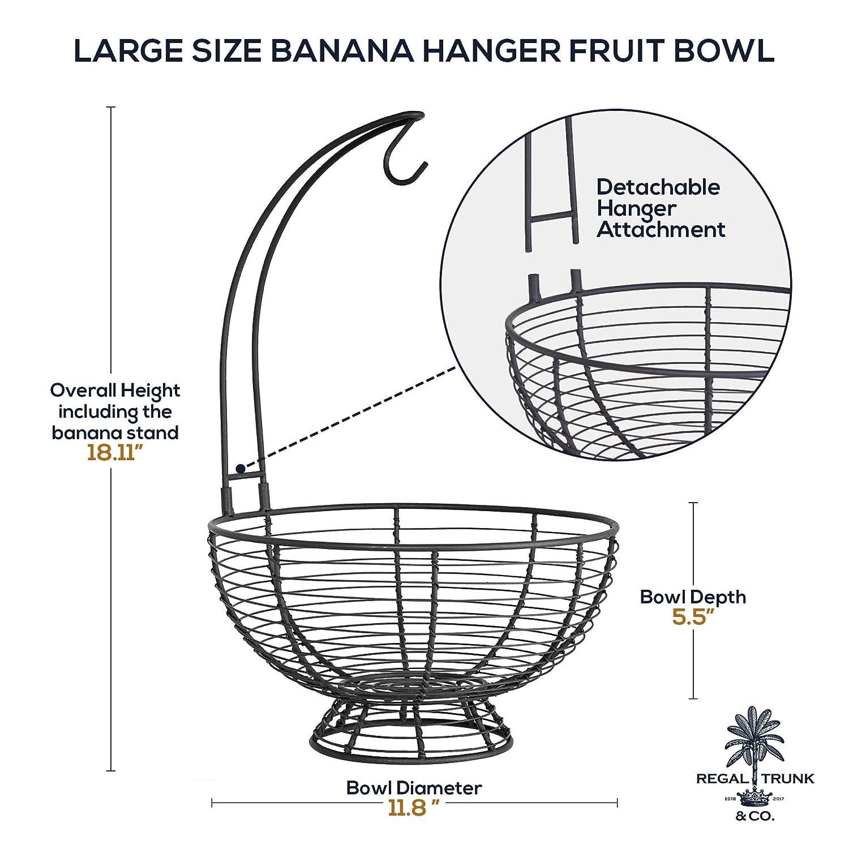 Amazon.com: Cesta de fruta con colgador de plátano – Regal ...