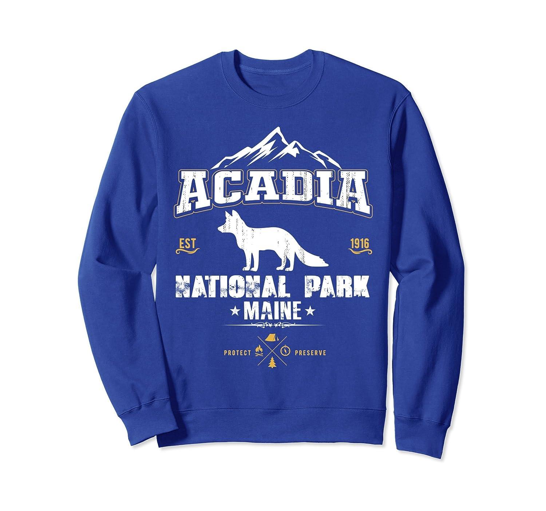 Cool Vintage Style National Park Acadia Maine Sweatshirts-Colonhue
