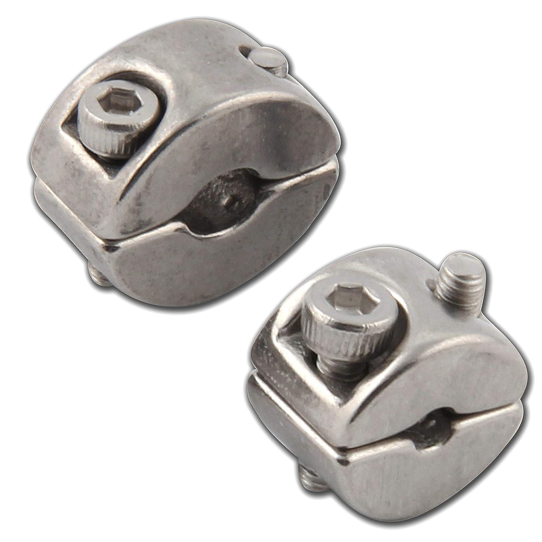 2 St/ück OPIOL QUALITY Drahtseil Klemmring DS= 8mm Edehlstahl V4A Kreuzklemme Drahtseilklemme Klemme Draht Rostfrei A4