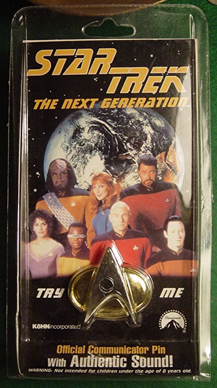 amazon com star trek the next generation official communicator pin
