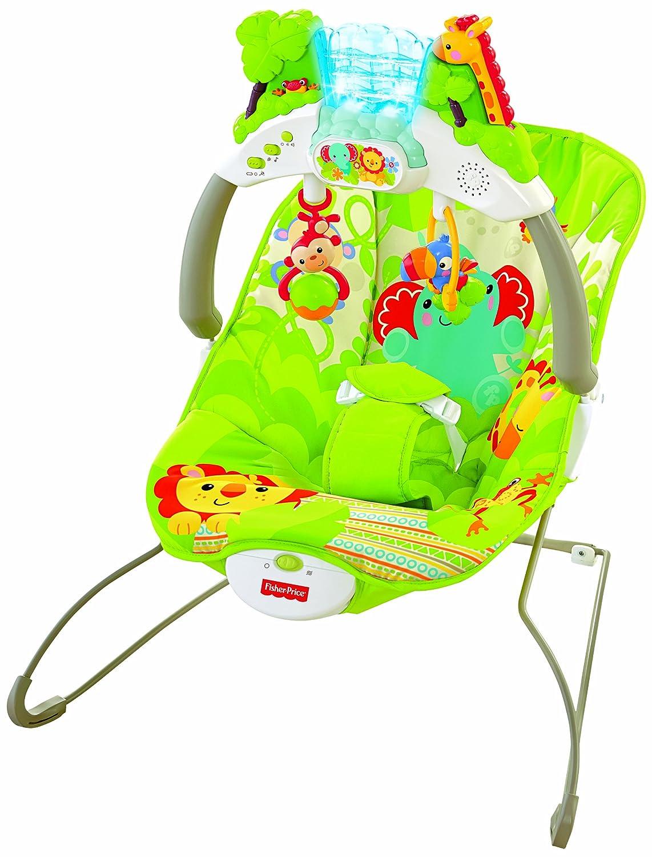 Fisher-Price BCG48 mecedora y silla para bebés - Mecedoras y sillas para bebés (11,3 kg,, 3 puntos, Lavado a máquina, 3,1 kg, 438 mm)