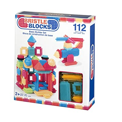 Bristle Blocks by Battat – The Official Bristle Blocks – 112Piece – Creativity Building Toys Dexterity Fine Motricity – Bpa Free 2 Years +: Toys & Games