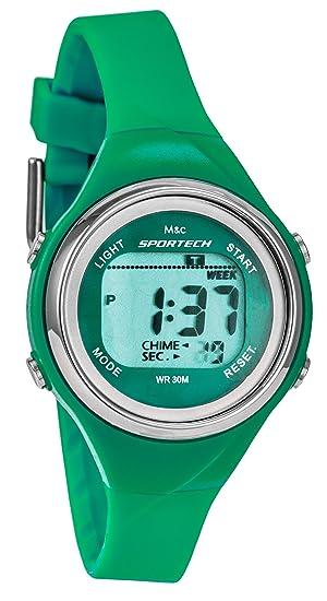 Sportech | de la Mujer Verde Delgado Band Resistente al Agua Natación Reloj Deportivo | sp10701: Amazon.es: Relojes