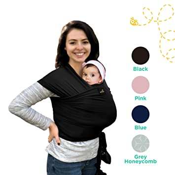 9b07951dd7f Image Unavailable. Image not available for. Color  Natural   Breathable My  Honey Wrap Lightweight Baby Carrier Sling ...