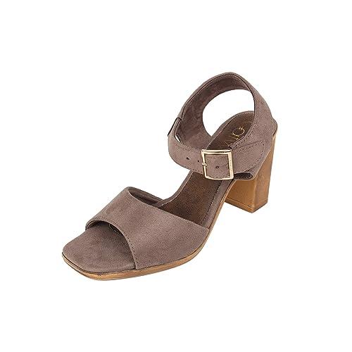 6ab6e97f880 Catwalk Women s Beige Synthetic Block Heel Sandals -7  Buy Online at ...