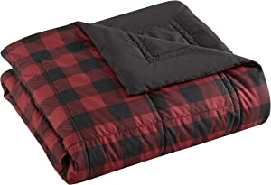 Eddie Bauer Home | Mountain Collection | Blanket - Ultra Soft and Cozy, Goose Down Alternative Reversible Comforter/Duvet Insert, King, Red