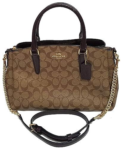 05f7e03cea7d Coach Signature Print Trim Carryall Crossbody Bag Sling Womens Purse Nwt   Handbags  Amazon.com