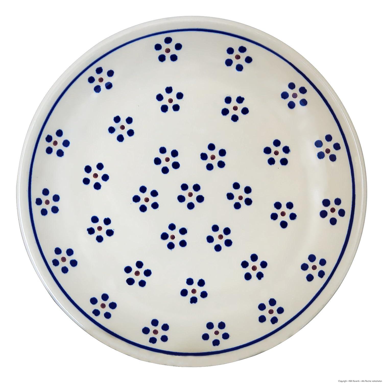 /Ø19,5cm im Dekor 1 Original Bunzlauer Keramik flacher Teller Fr/ühst/ücksteller