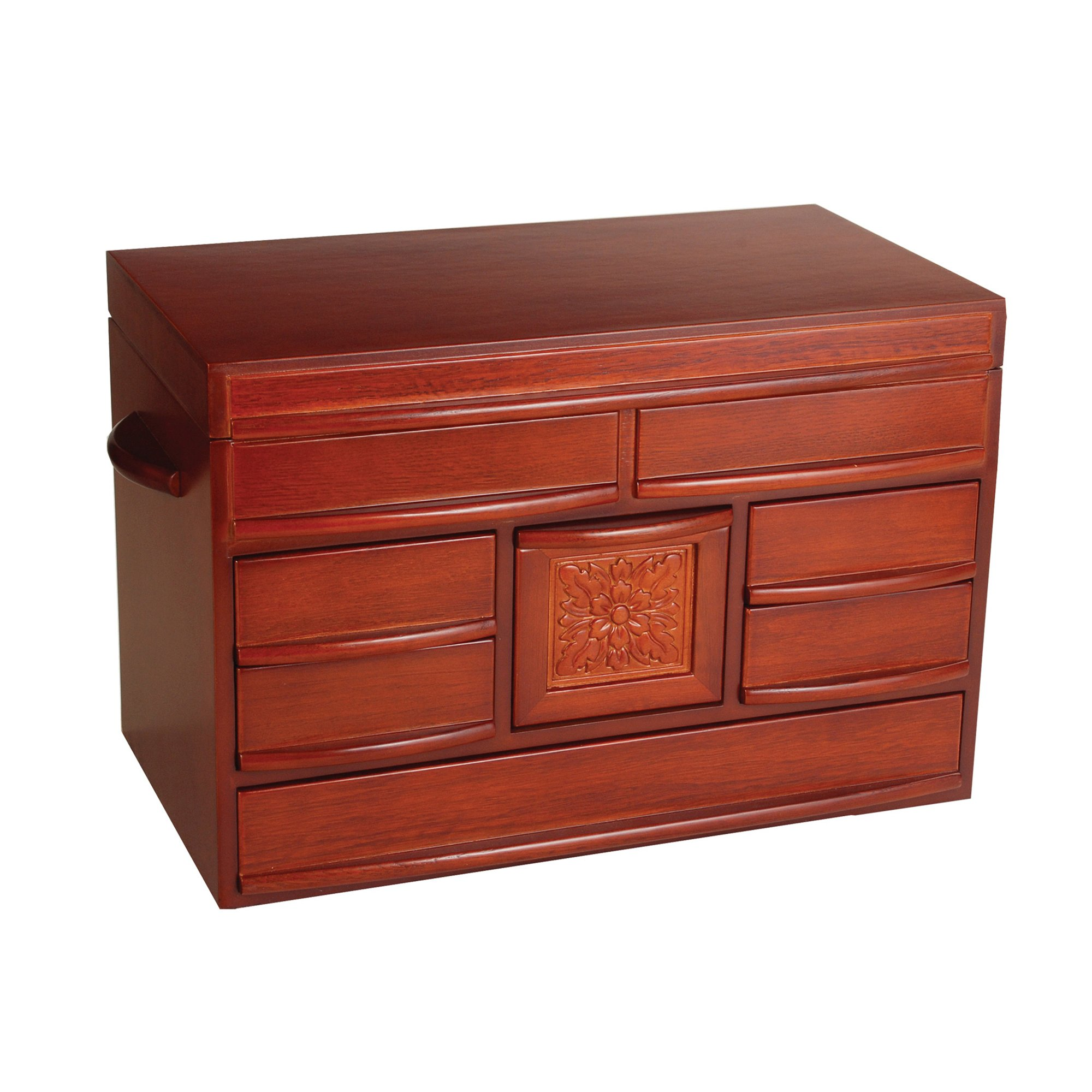 Mele & Co. Empress Wooden Jewelry Box (Walnut Finish) by Mele & Co.