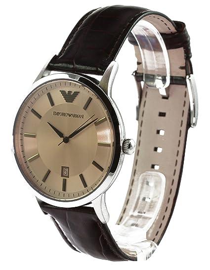 Emporio Armani AR2427 - Reloj (Reloj de Pulsera, Masculino, Acero Inoxidable, Plata