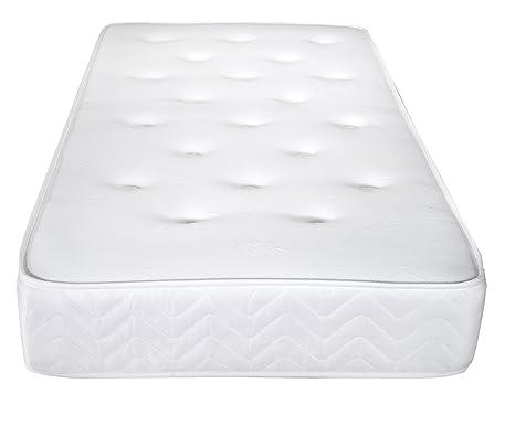 Vogue Beds Colchón, Tela, Blanco, 90 x 190 cm