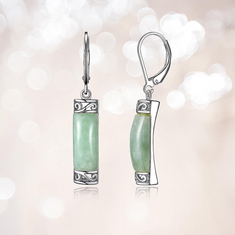 Amazon Sterling Silver Jade Dangle Earrings Earrings For Women
