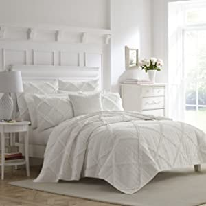 Laura Ashley Maisy Bedding, Full/Queen, White