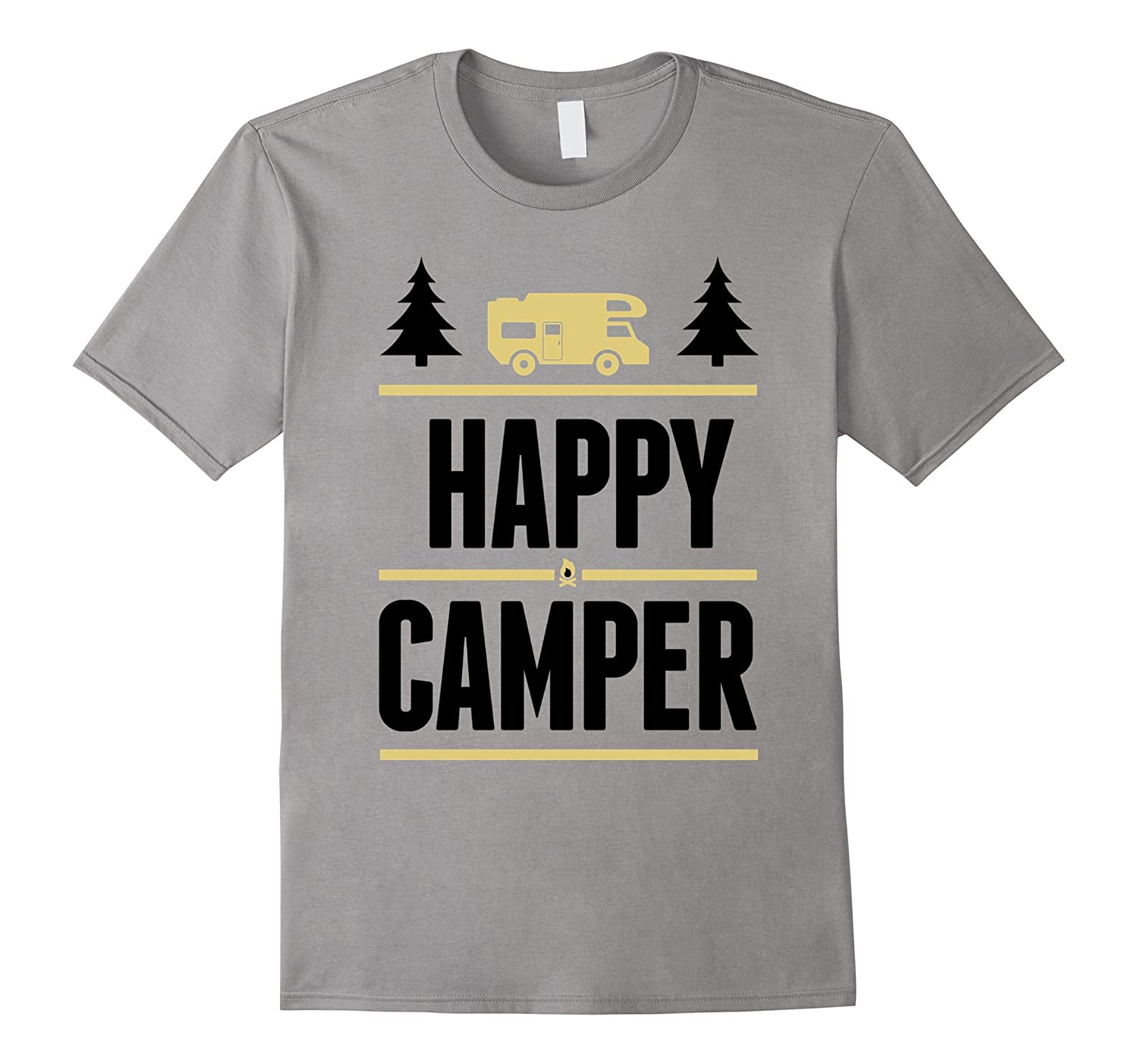 HAPPY CAMPER T SHIRT must have tee for all camping lovers-Art