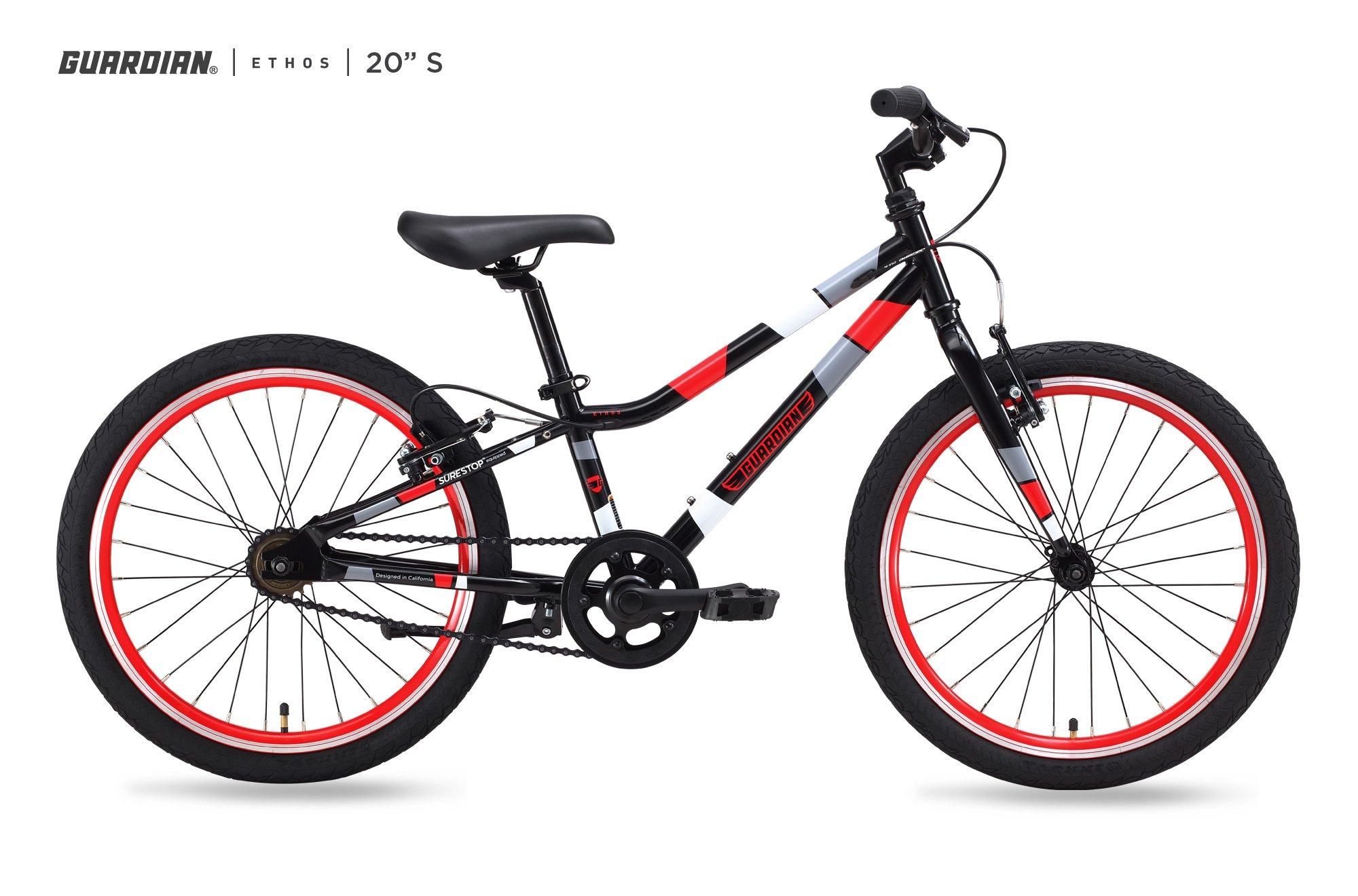 Guardian Kids Bikes Ethos. 16/20/24 Inch, Multiple Colors for Boys/Girls. Safer Brake System for Kids. Lightweight Steel Construction. Easy Assembly. ASO SharkTank. product image
