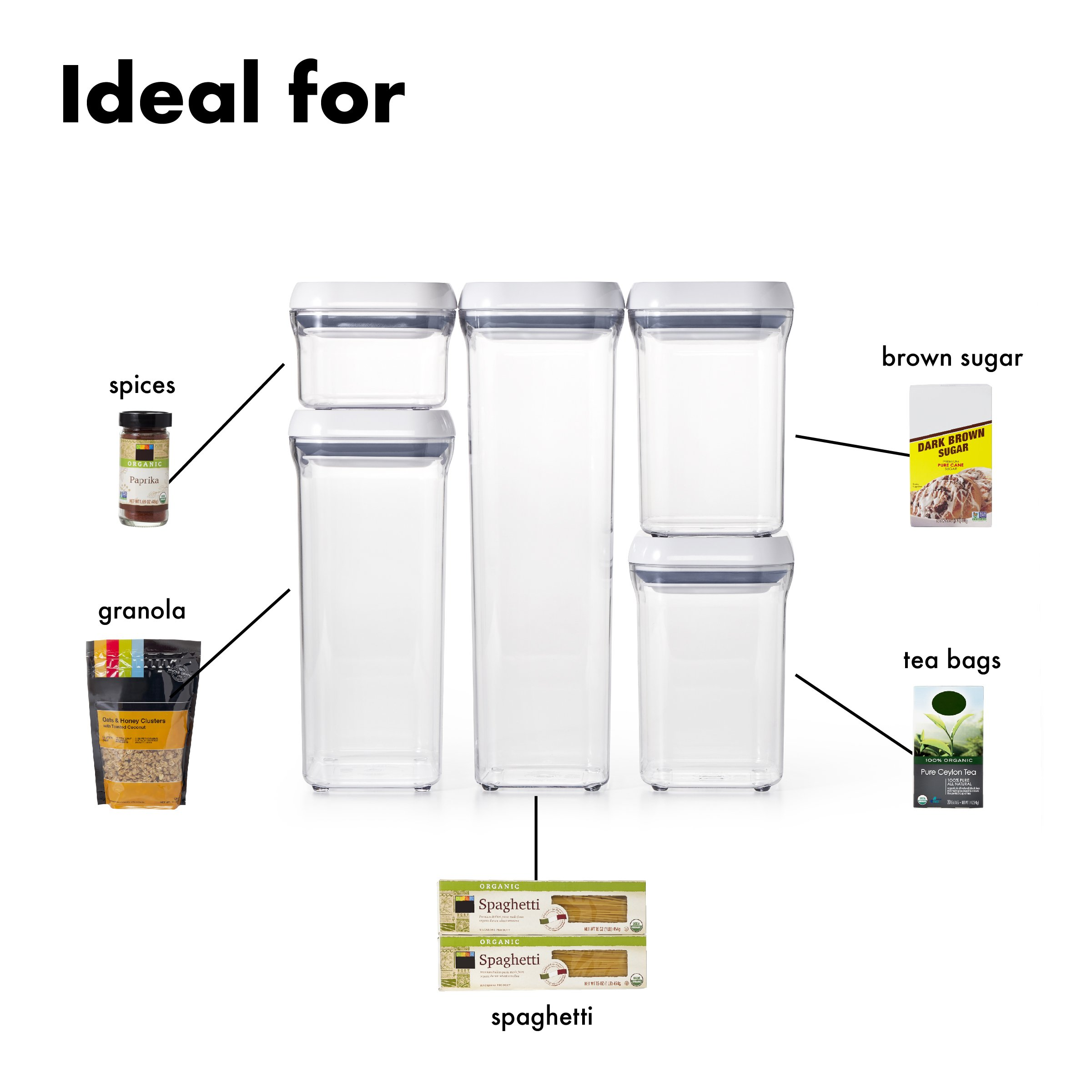OXO Good Grips 5-Piece Airtight POP Container Set by OXO (Image #3)
