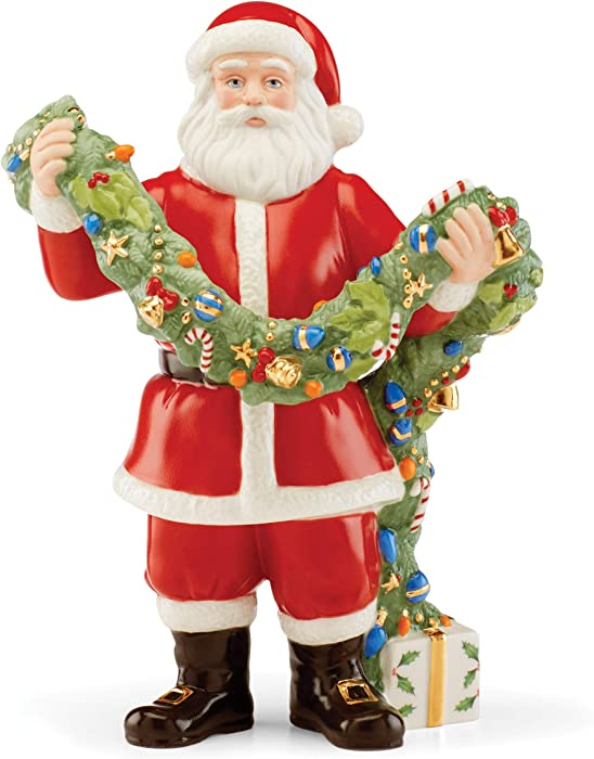 Lenox 2020 Santa Decking The Halls Figurine, 1.30 LB, Multi