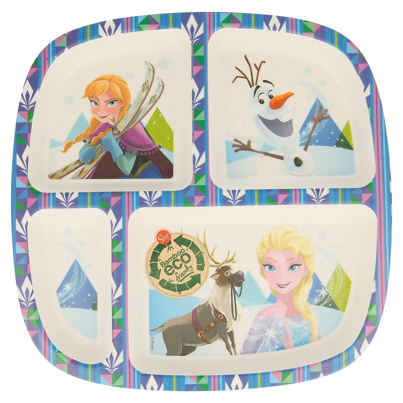 Farbe Stor st-01333 Disney Frozen Teller Bambusmotiven Geteilt of